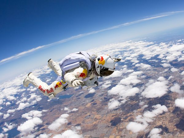 Freefall from the edge of space