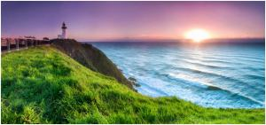 Sunrise at Byron Bay Lighthouse, New South Wales, Australia
