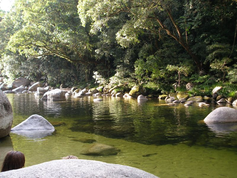 Beautiful Mossman Gorge - the edge of Daintree Rainforest