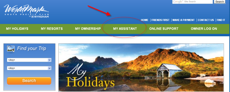 Easily Navigate to the Grab It! Website from the My Assistant tab on worldmarksp.com .