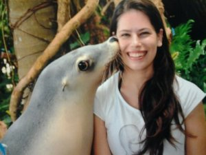 Seal kisses at Pet Porpoise Pool
