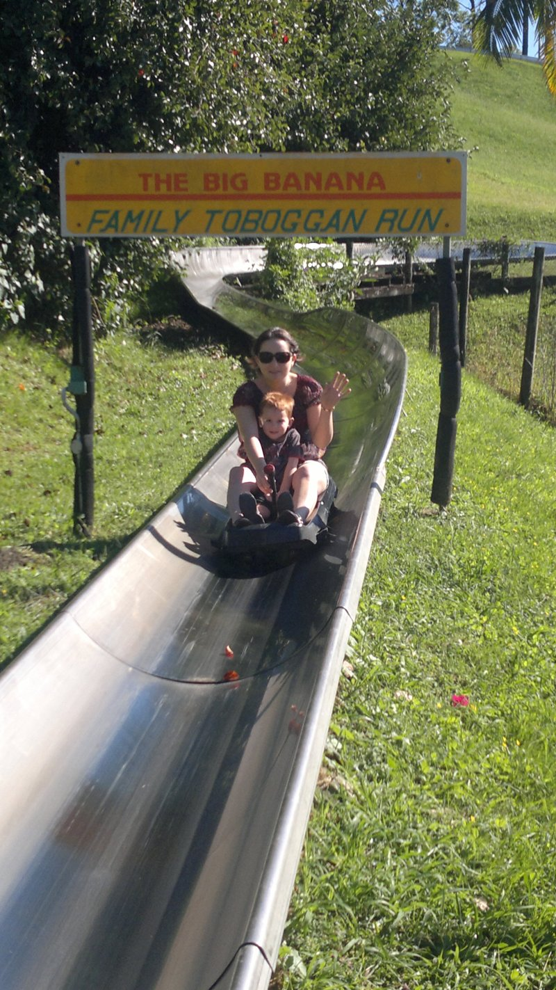 Toboggan Ride at the Big Banana