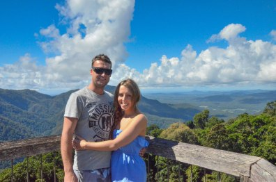 Andrew and I at Dorrigo State Park Lookout. Keep your camera handy for wildlife and bird spotting!