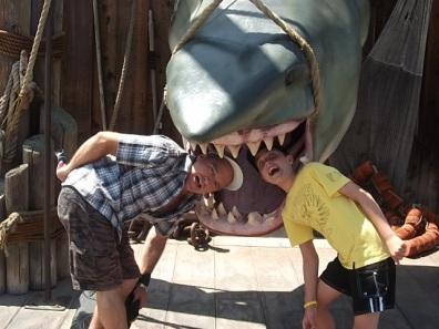 A quick bite at Universal Studios.