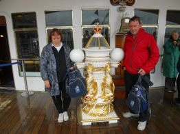 BRONWYN & bBARRY ON THE ROYAL BRITANNIA
