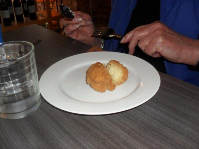 Bryce's golden syrup dumplings come with the 'gold' on the outside!!!