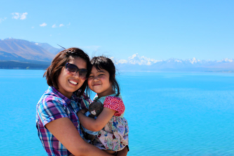 The blue of Lake Pukaki is surreal - a bluer blue than the bluest sky. And rising centre stage above it all is Aoraki / Mount Cook, or as we call it, the Ice Cream Mountain.