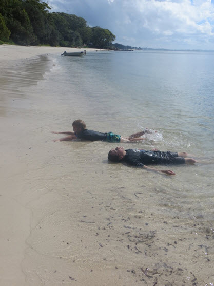 Our kids really enjoyed exploring pristine and secluded beaches, swimming and digging in the sand while we relaxed and watched.