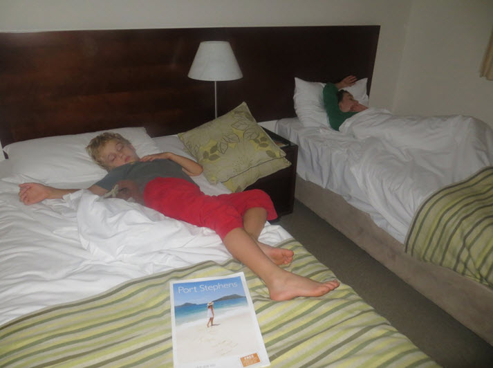 The kids slept well at night after fun filled days at Wyndham Port Stephens. We can't wait to go again!