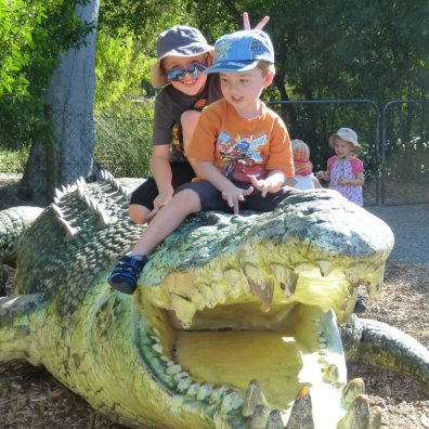 Riding the croc
