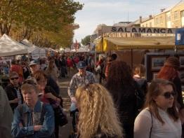 Tourists flock to Hobart's Salamanca Market