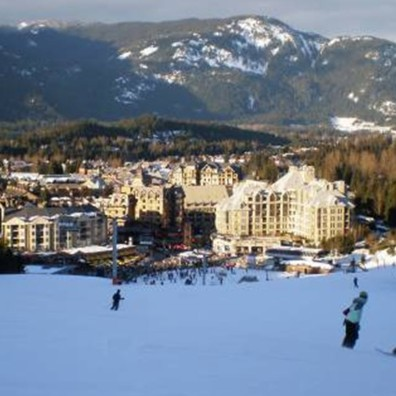 My daughter and son-in-law snowboarding into the magnificent Whistler Village, after an amazing day on the slopes. Beautiful, scenary, amazing snow and home to our cosy Worldmark resort!
