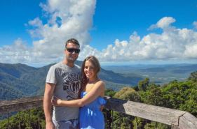 My husband and I at Dorrigo State Park Lookout. Keep your camera handy for wildlife and bird spotting! I can't wait to head back here. So many more waterfalls and bushwalks to discover! The air is so pure and revitalising.
