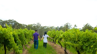 Exploring one of the many vineyards in Hunter Valley