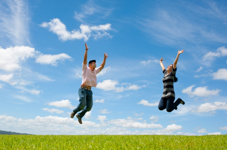 Jumping for joy - who wouldn't when you have a great holiday?