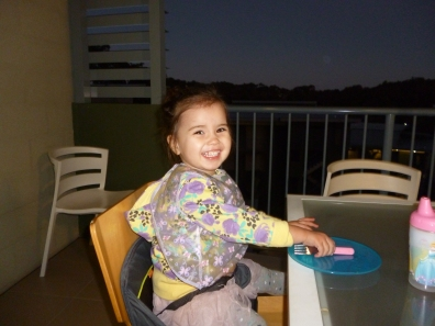 Abigail requested eating our home cooked meals out on the balcony each night. One of the many reasons we love Worldmark, a kitchen for cooking!