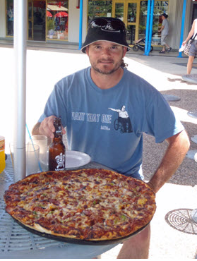 We enjoyed pizza at Mamma's at the Port of Denarau. I'd never seen a pizza that big before!
