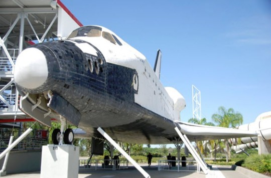 Space shuttle at Cape Canaveral