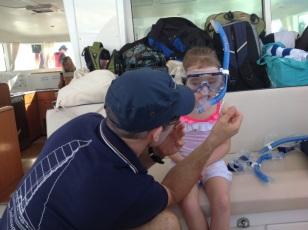 Sid fitting a snorkel