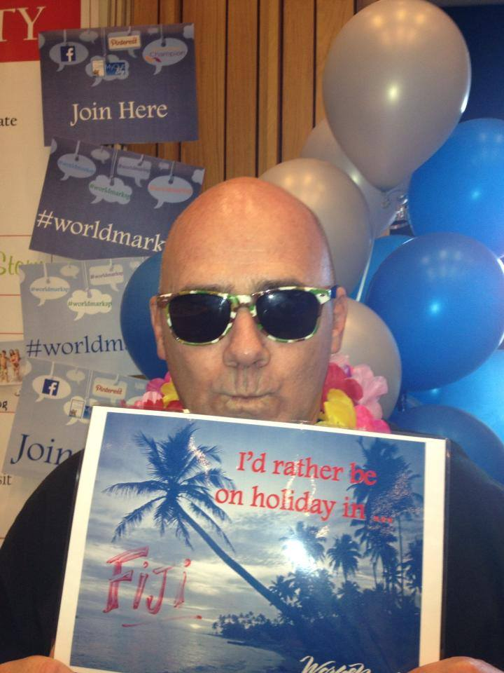 Paul would rather be on holiday in Fiji.