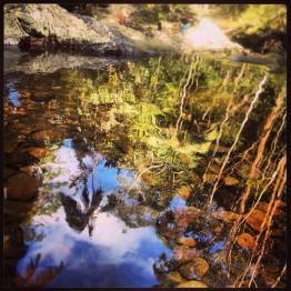Rock Pools Reflection