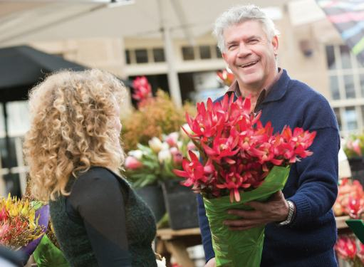 Salamanca Markets - fresh flowers with a smile - Tasmania