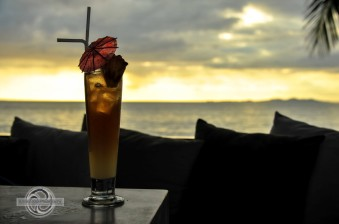 cocktail and sunset